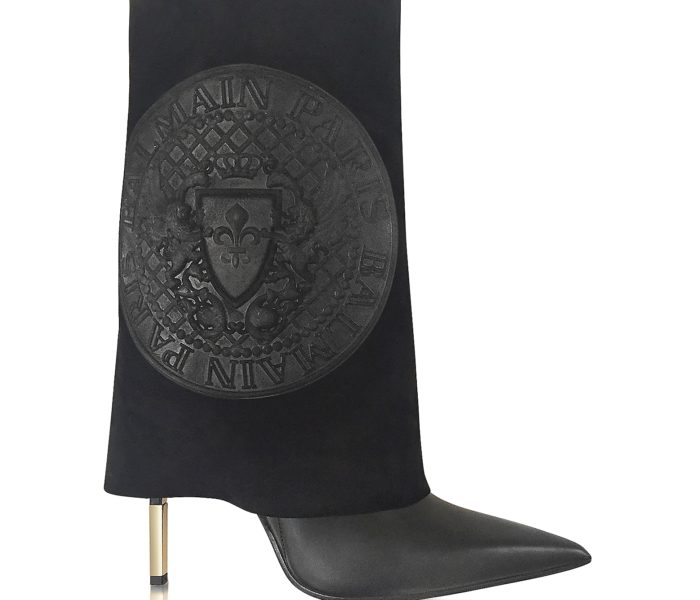 MONDO BRIDAL STYLE BOOK – BALMAIN Babette Black Leather and Suede High Heel Boots