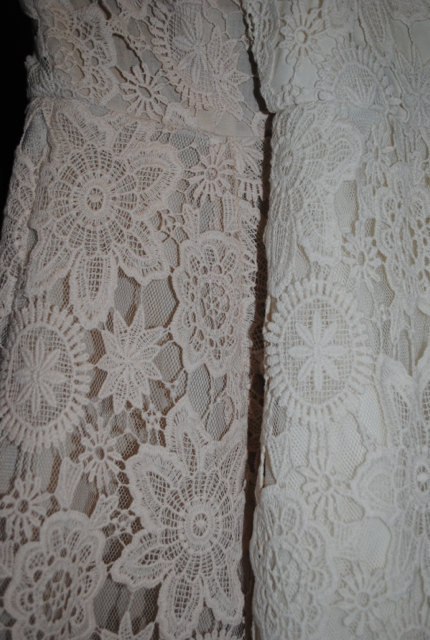 6e23580266a7 BELL SLEEVE vintage-inspired 70s style ivory LACE crochet hippie mini dress.  Boho Bohemian Hippy Wedding Dress. Handmade by Dreamers and Lovers