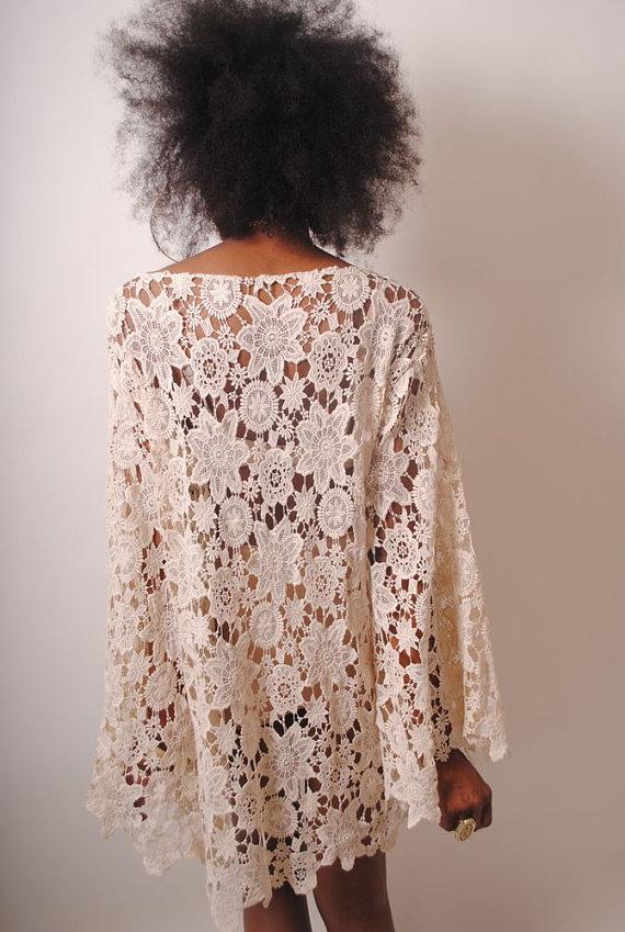 1cc4984fd3ec Dreamers and Lovers – BELL SLEEVE VINTAGE LACE Boho Bohemian Wedding Dress