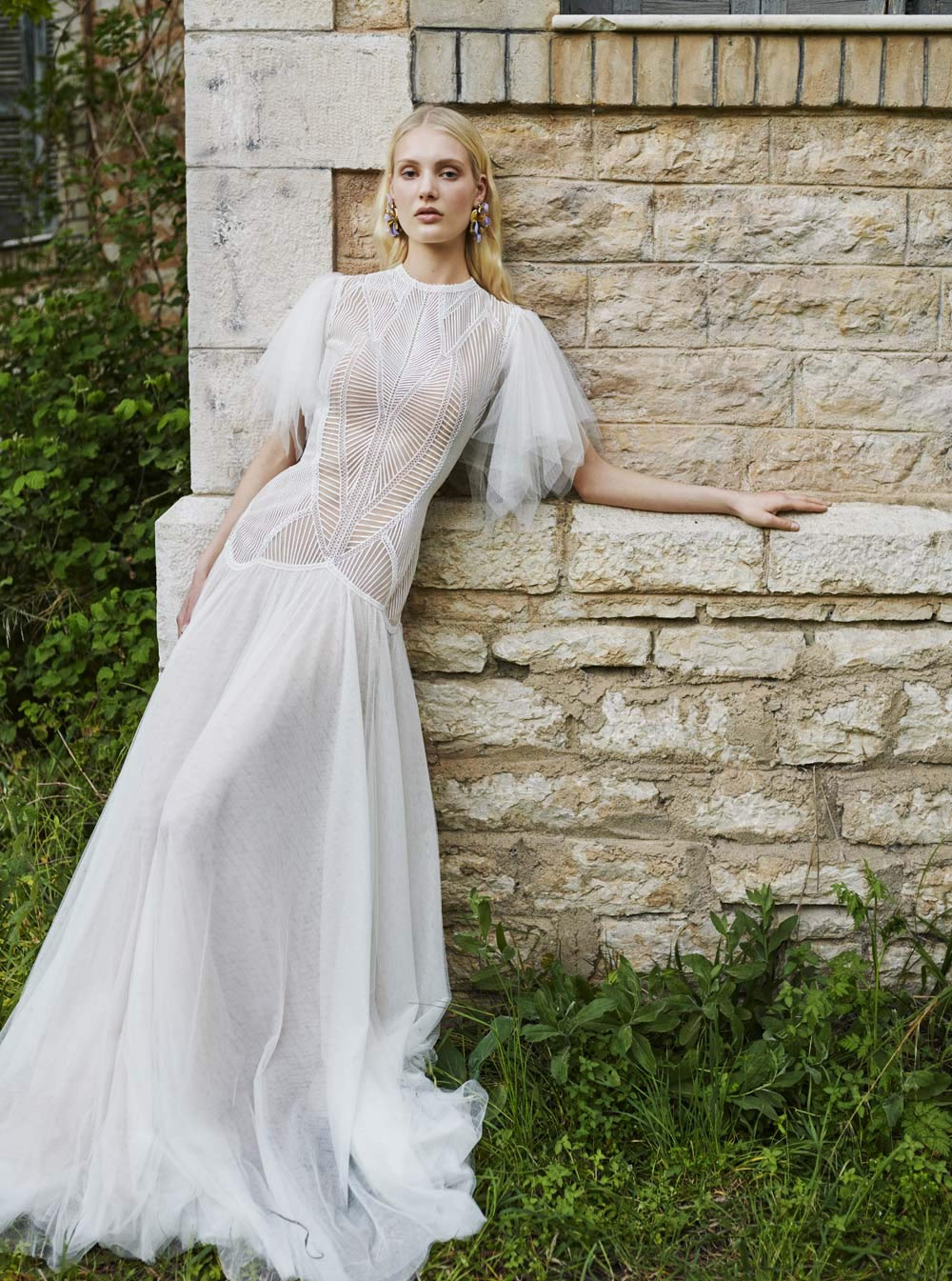 Mondo Bridal - COSTARELLOS BRIDAL SPRING 2019 - Angel-Sleeve Gown