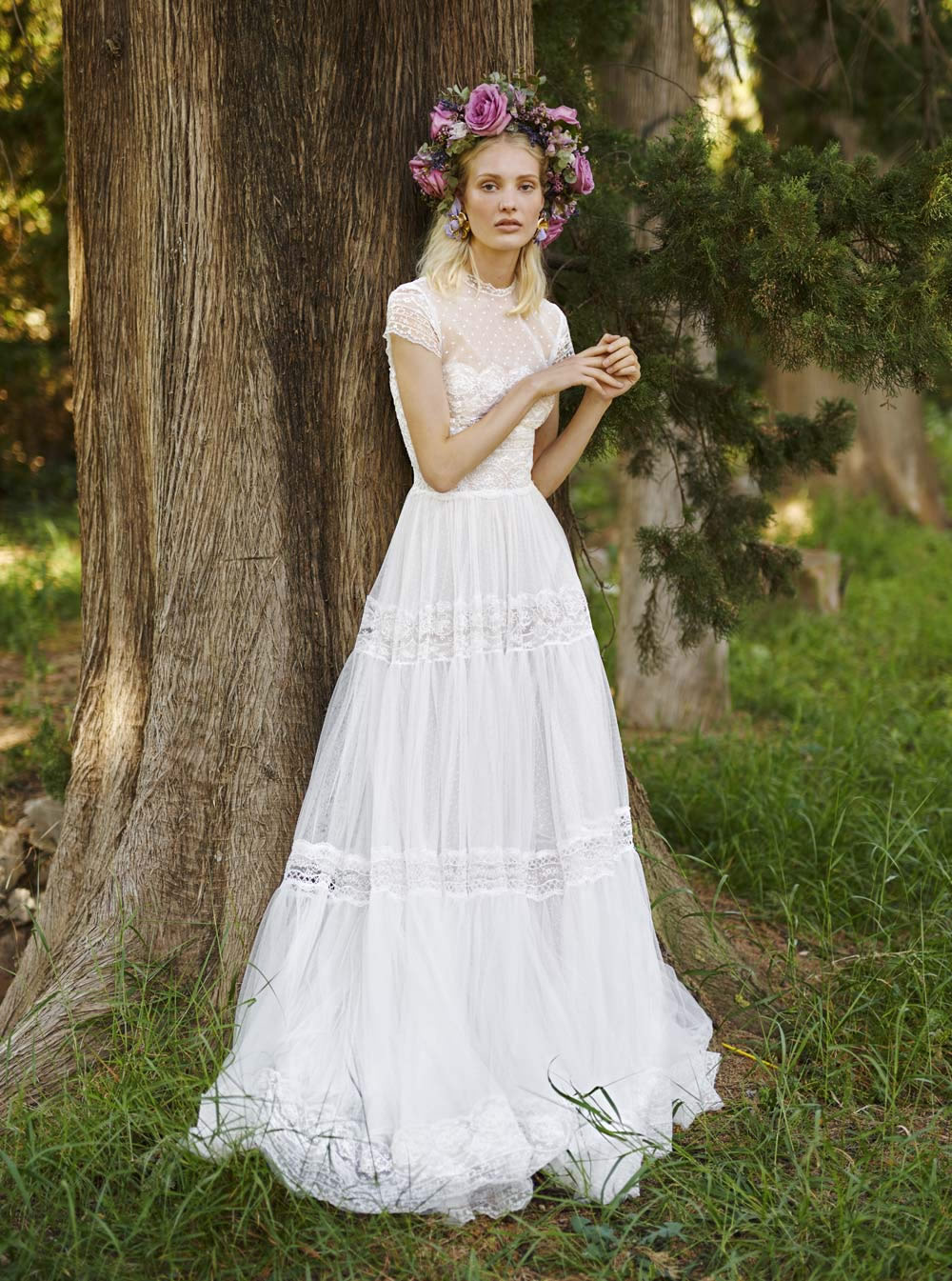 Mondo Bridal - COSTARELLOS BRIDAL SPRING 2019 - Fit & Flare Tulle Dress