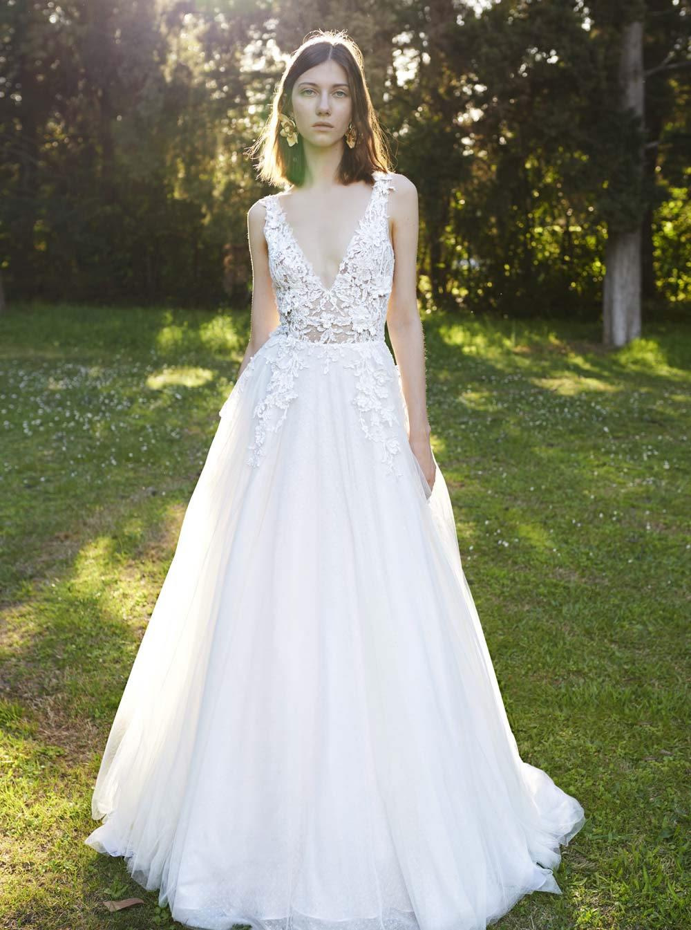 Mondo Bridal - COSTARELLOS BRIDAL SPRING 2019 - Floral Mesh Ballgown