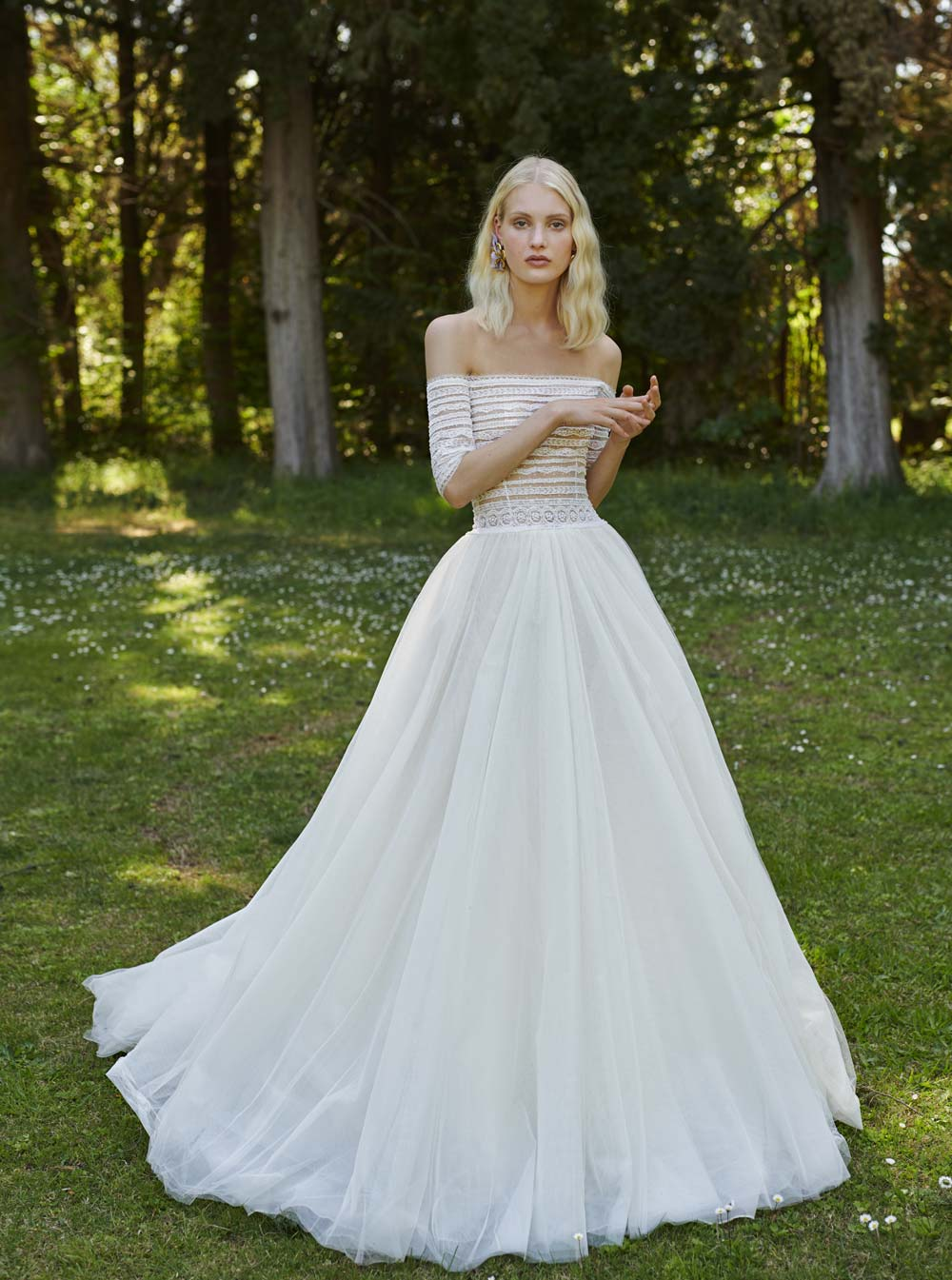 Mondo Bridal - COSTARELLOS BRIDAL SPRING 2019 - Off-The-Shoulder Gown