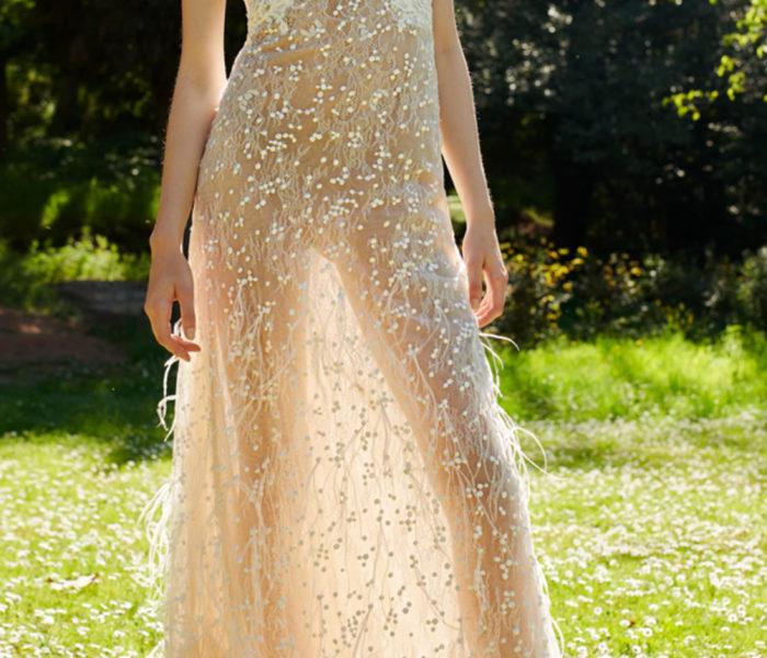 Mondo Bridal - Costarellos Bridal Halter Neck Dress