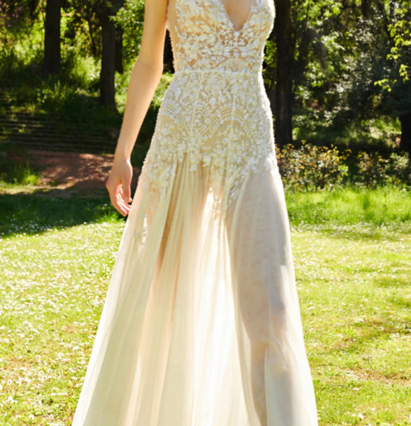 Costarellos Bridal – Chantilly Lace Dress