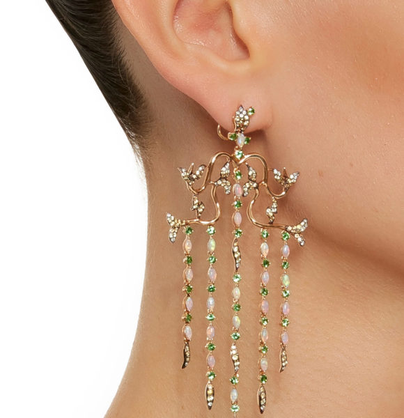 Wendy Yue – Opal Waterfall Earrings