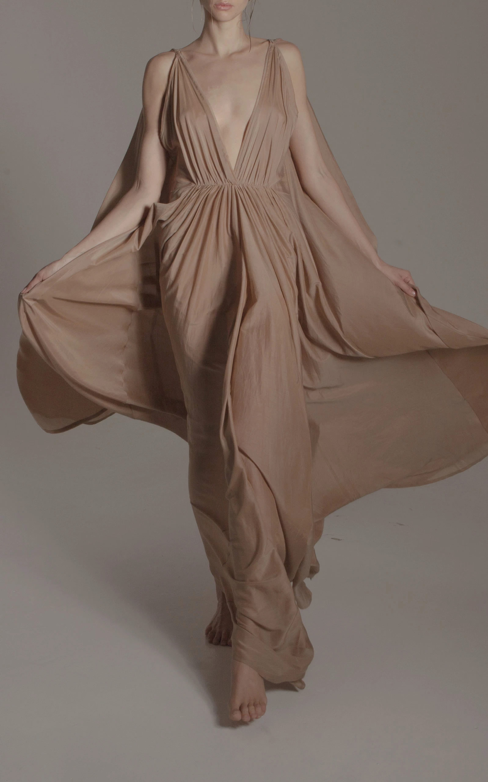 Kalita - Destination Wear - Brown Clemence Maxi Dress