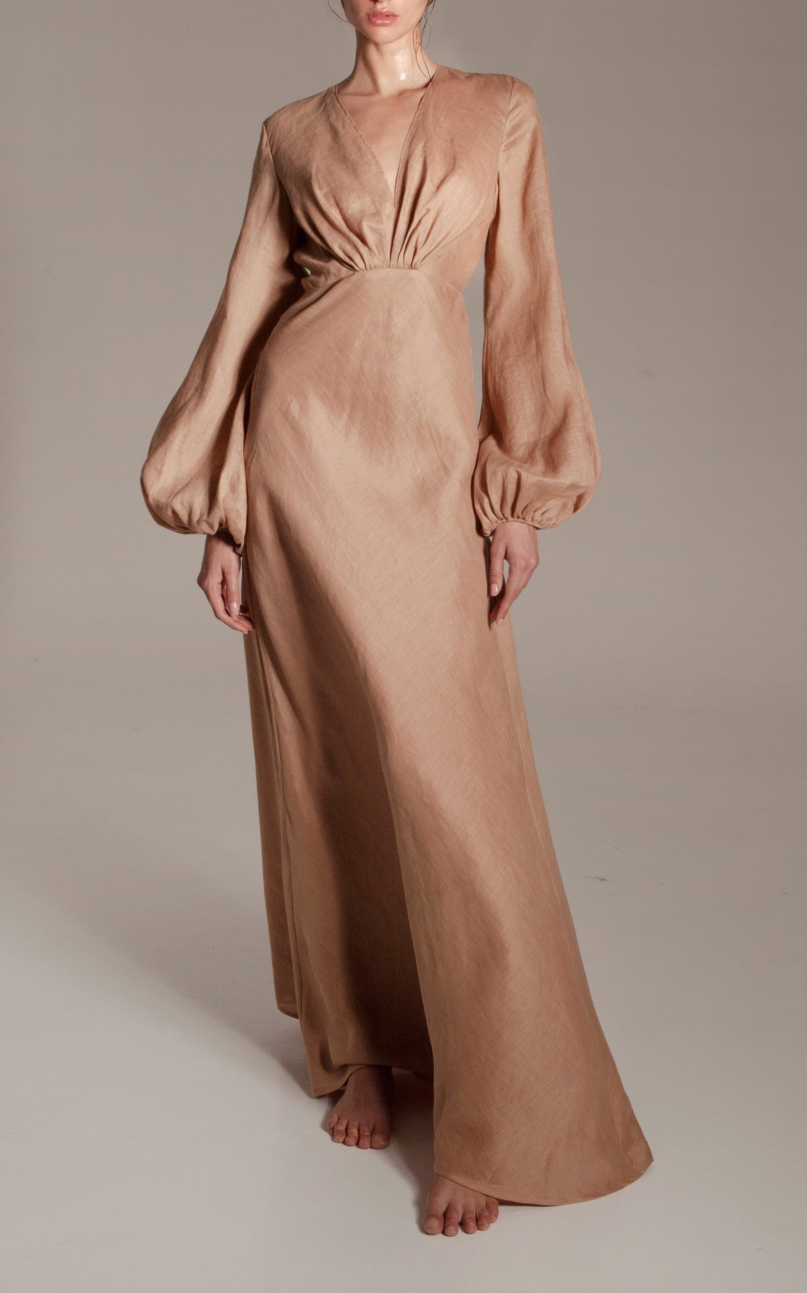 Kalita - Destination Wear - Brown Utopia Linen Gown