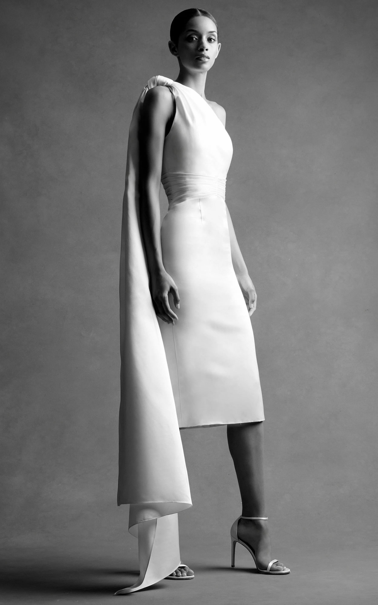 Mondo Bridal - Brandon Maxwell Bridal - Mirror Pleated Midi Dress
