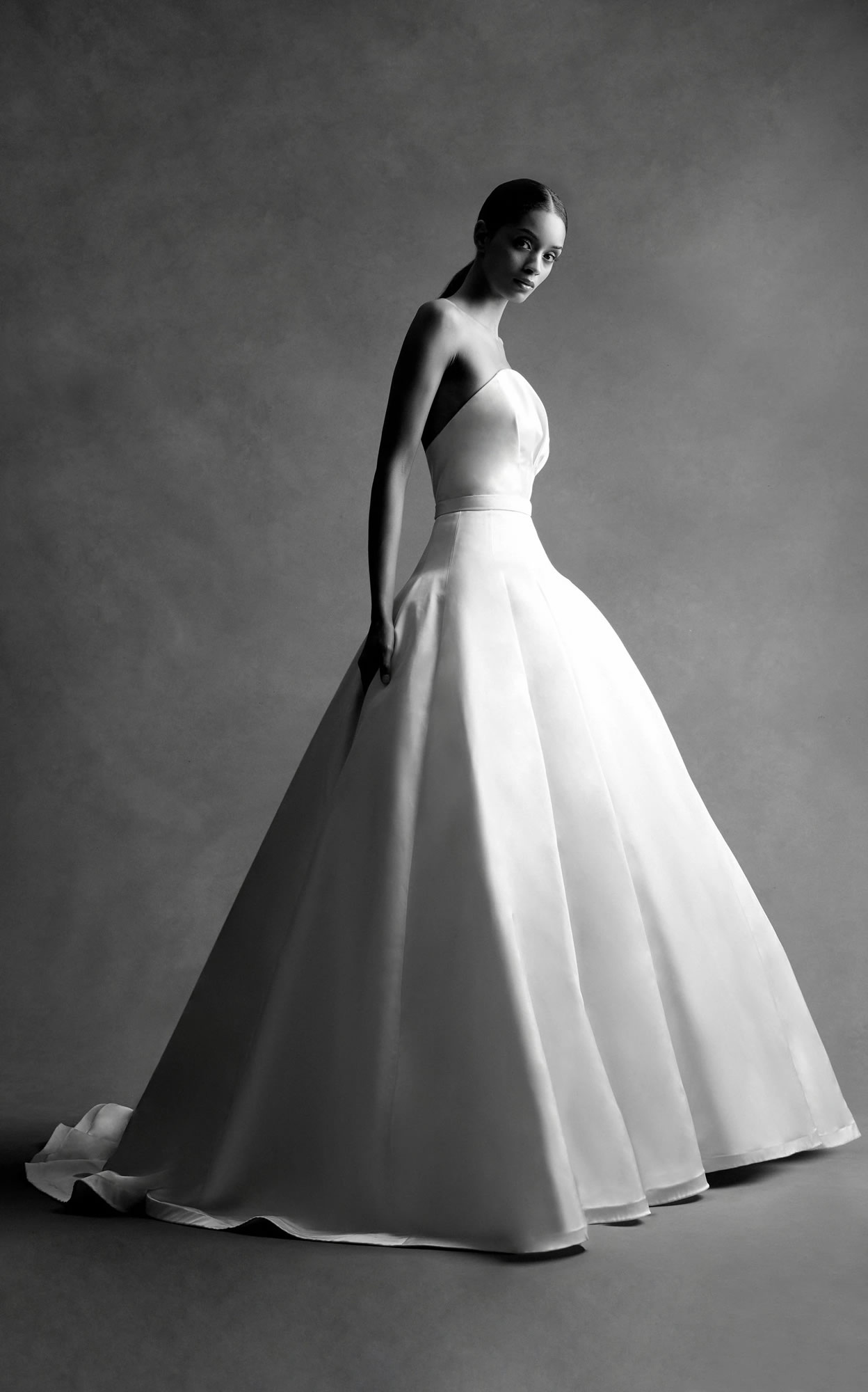 Mondo Bridal - Brandon Maxwell Bridal - Strapless Bustier Ball Gown