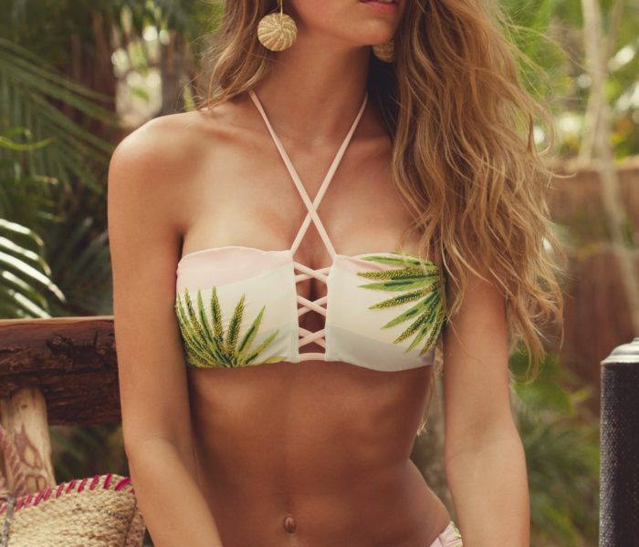 Agua Bendita Swimwear – Olivia Polly Tropical Print Bikini Set