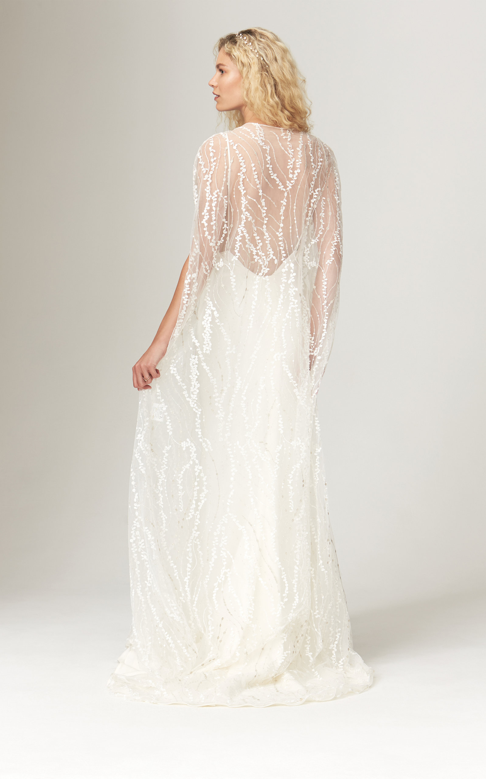 Savannah Miller - Inca Cape With All-Over Vine Lace Detail