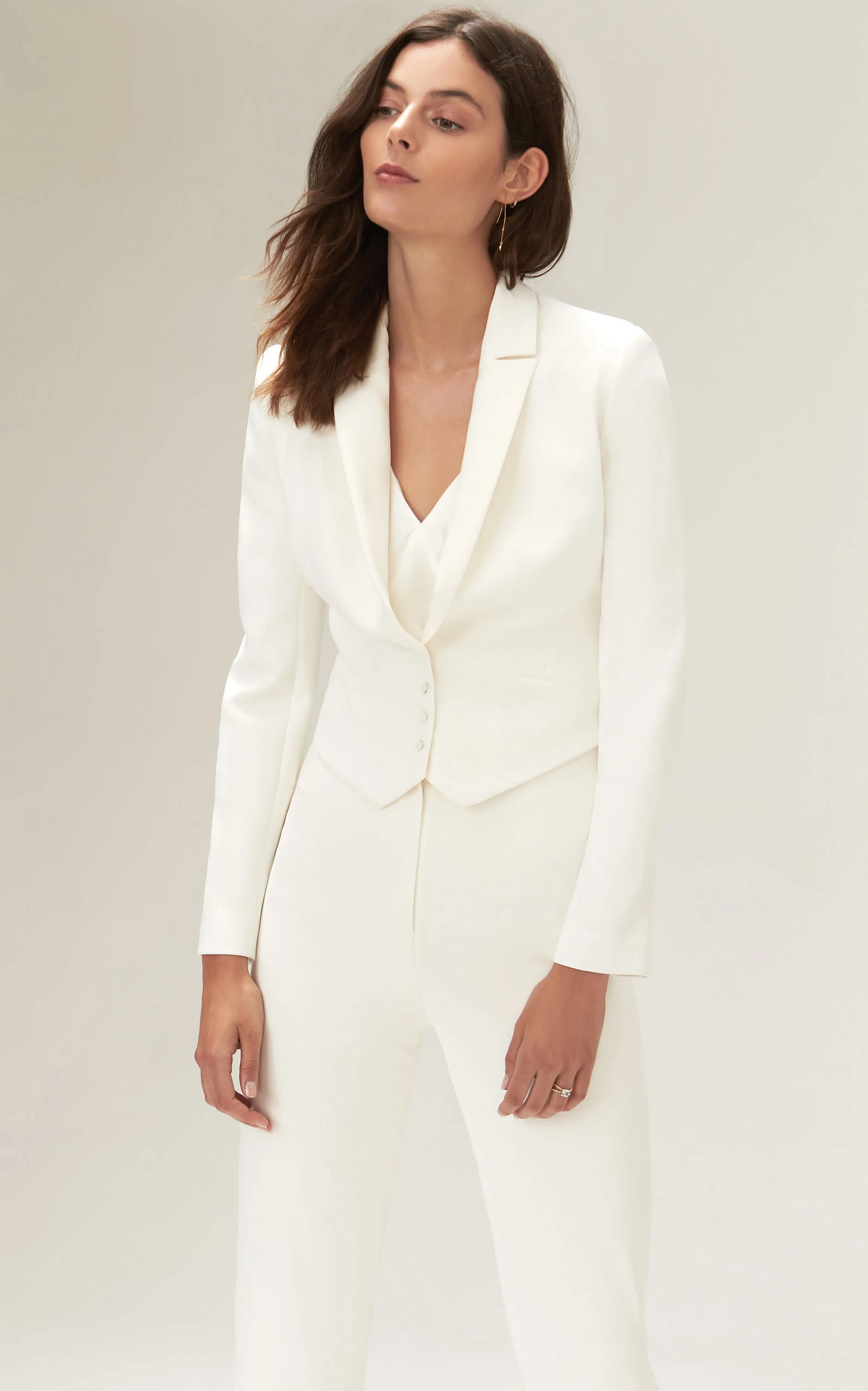 Savannah Miller - Eve Cropped Jacket With Satin Lapels And Detachable Skirt
