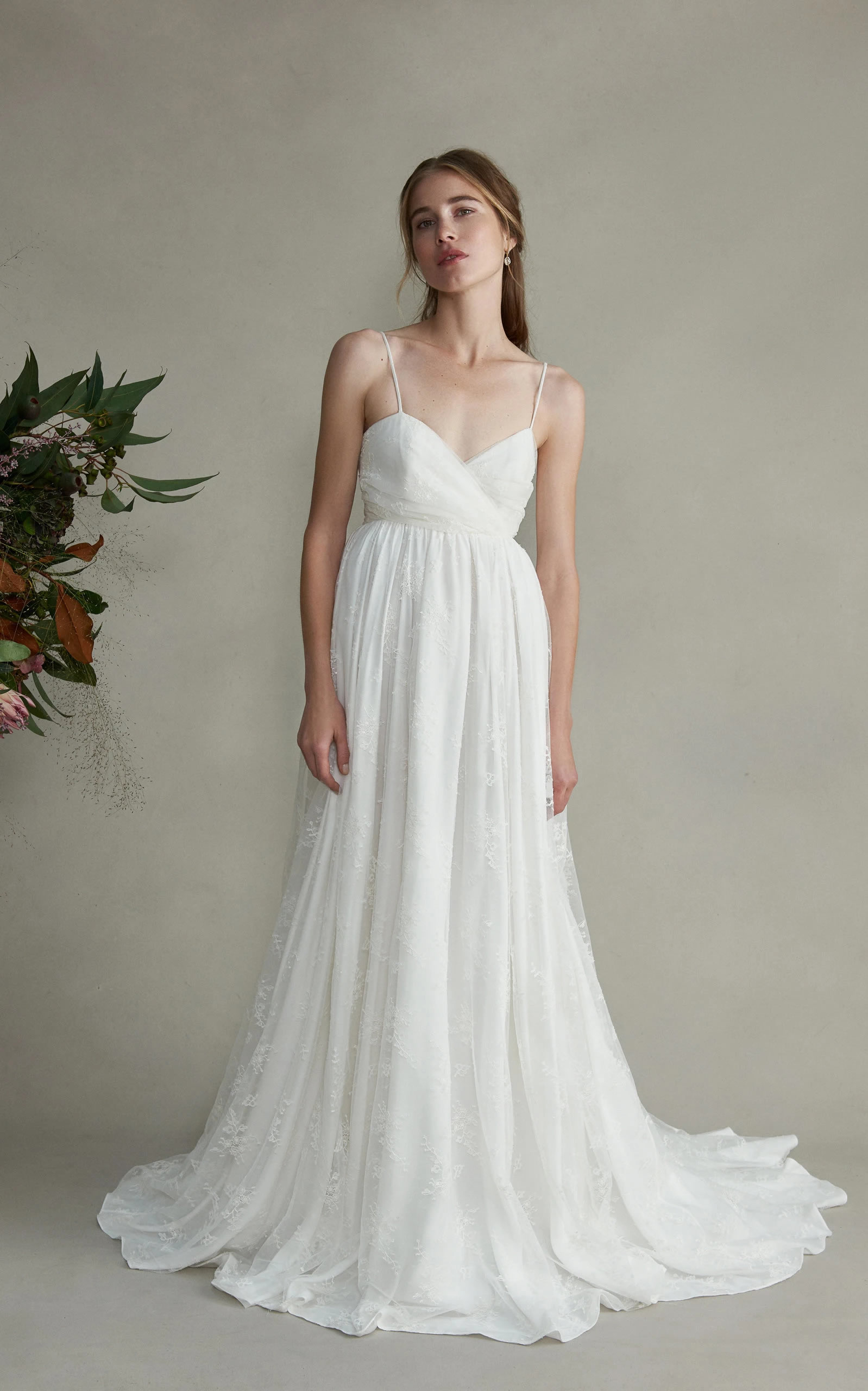 Markarian - Josephine Silk Sweetheart Lace Gown