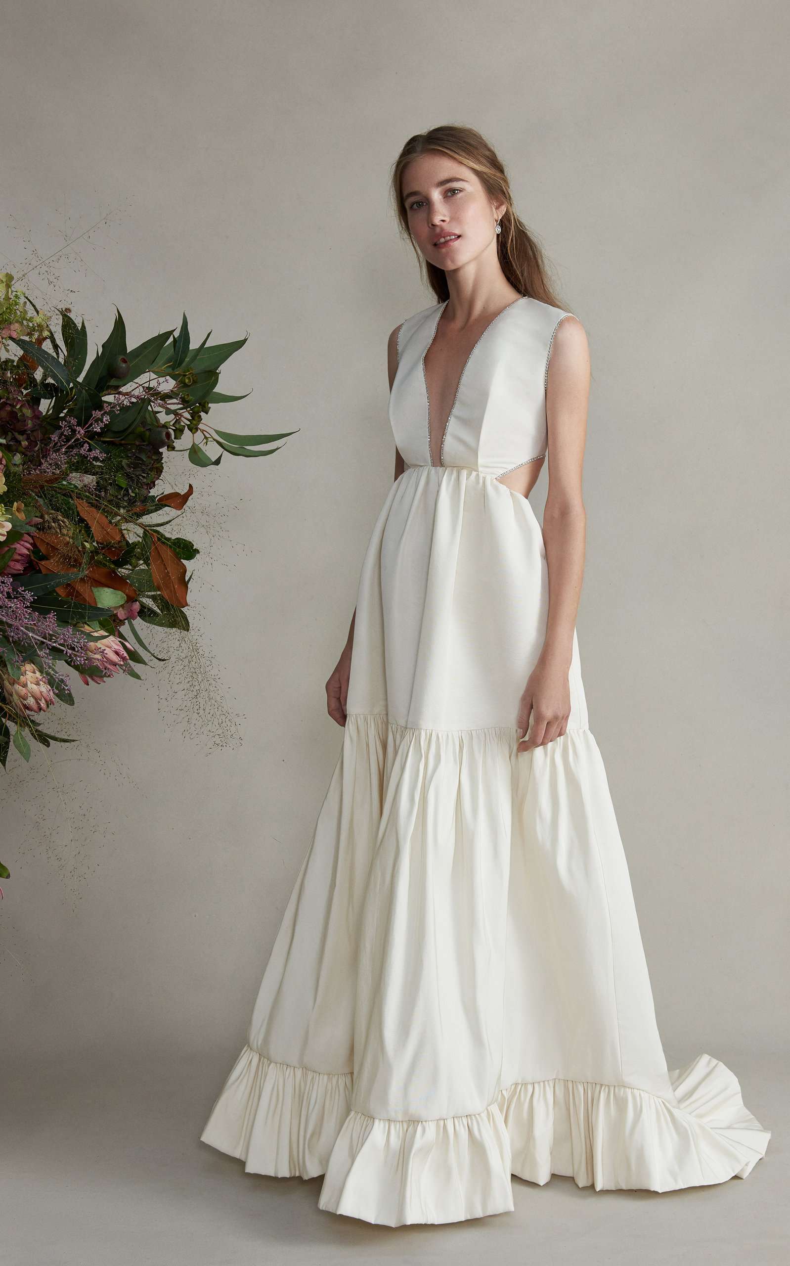 Markarian - Guinevere Sleeveless Cut Out Silk Gown