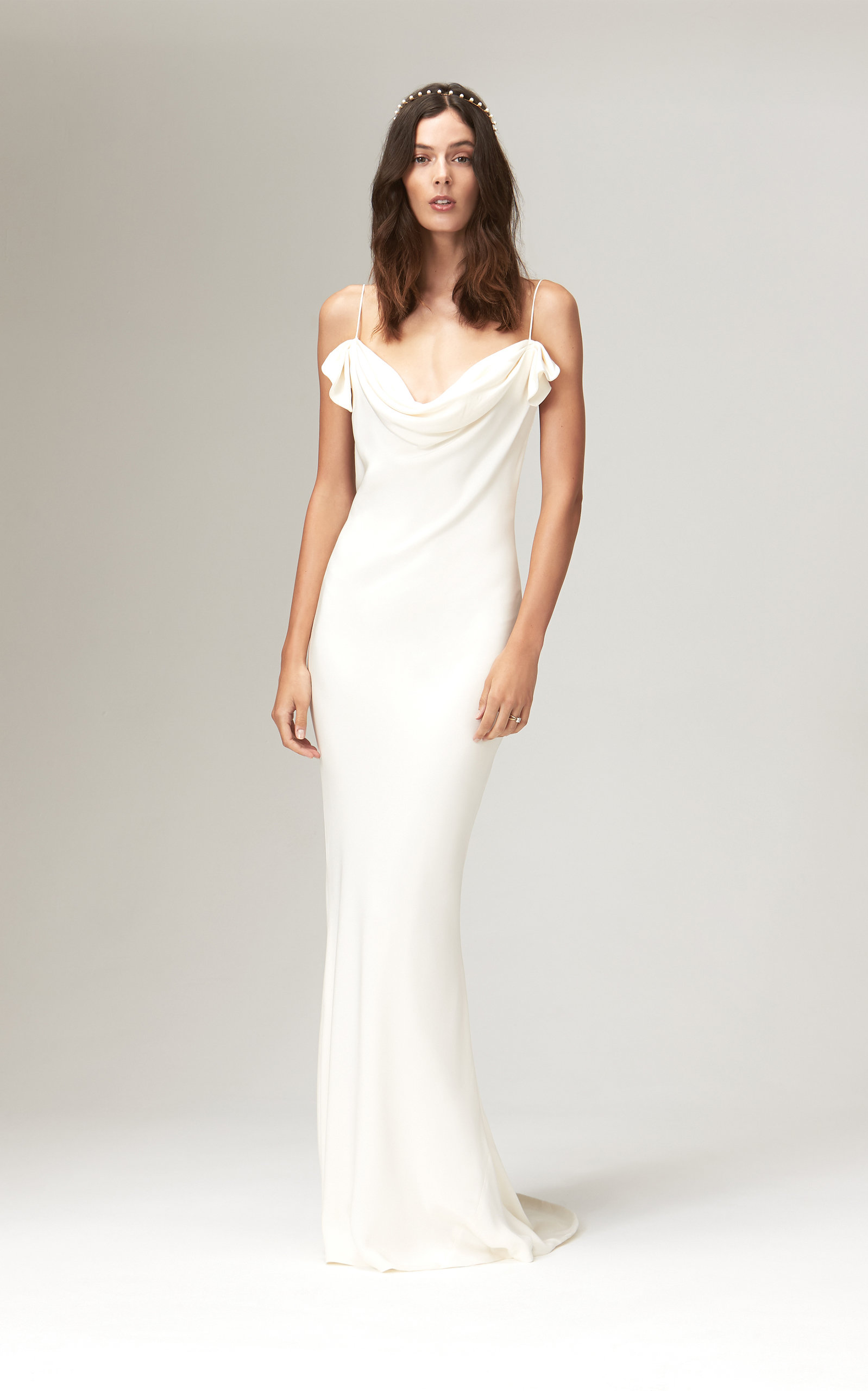 Savannah Miller - Chloe Silk Bias Cut Cowl Neck Gown