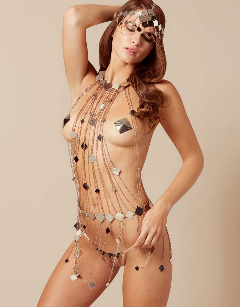 Adora Playsuit Silver And Rose Gold by Agent Provocateur
