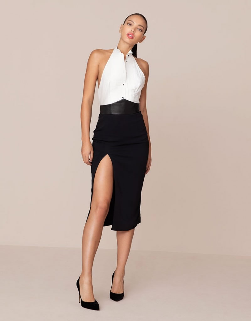 The Flint Skirt in Black by Agent Provocateur