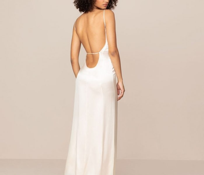 Bridal Nightwear – Classic Long Silk Satin Slip in Ivory