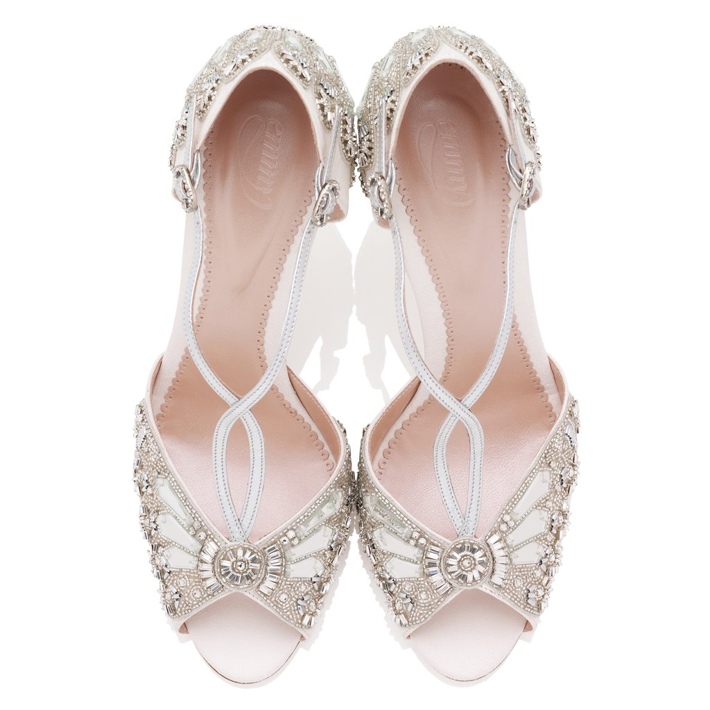 7b2d122fd23 ... wedding shoe but with a new super wearable block heel. It s the perfect  option for brides who love the classic bridal styles but need the stability  of a ...