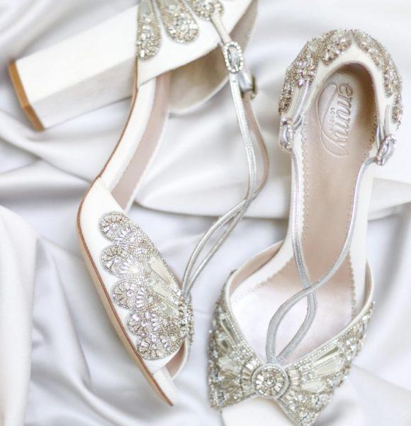 Emmy London – Cinderella Block Wedding Shoe