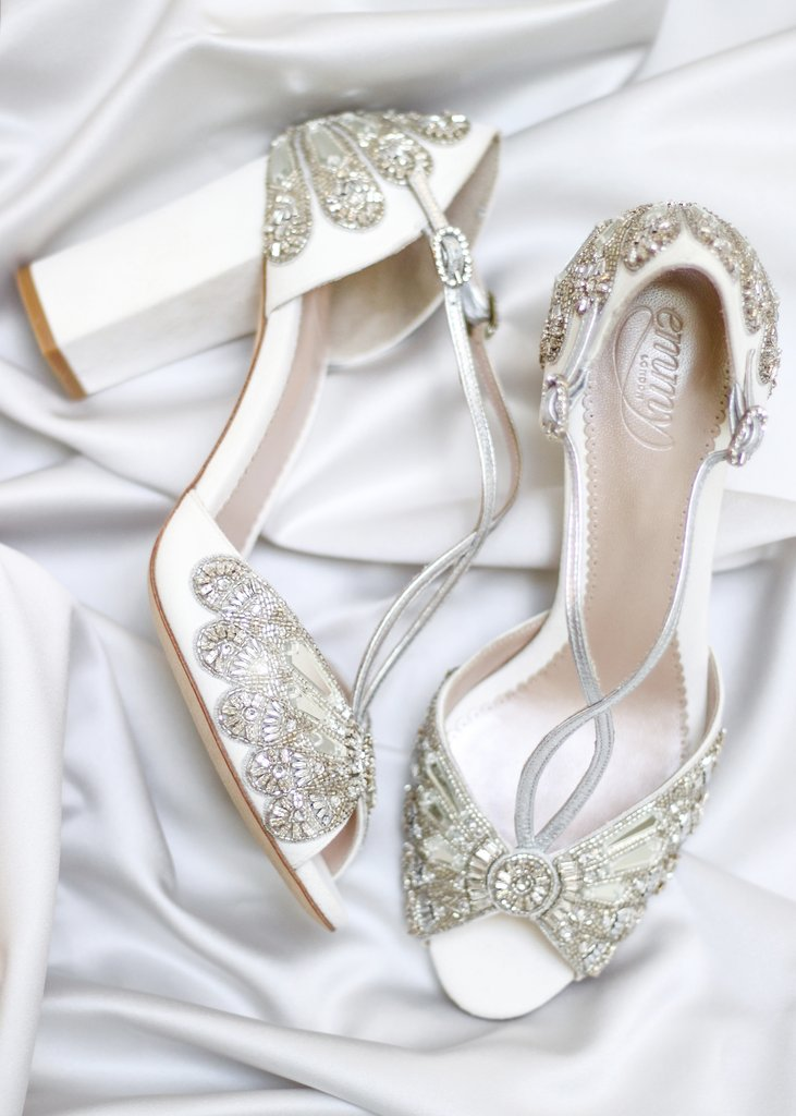 Emmy London – Cinderella Block Wedding Shoe