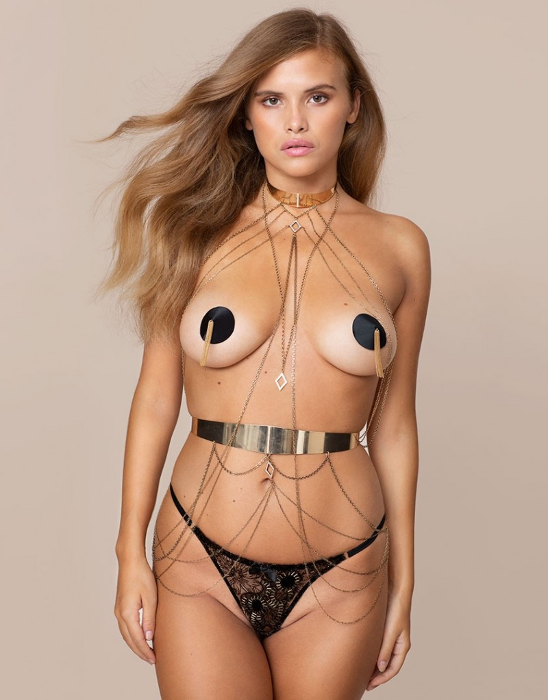 Nerissa Neck Piece Gold by Agent Provocateur