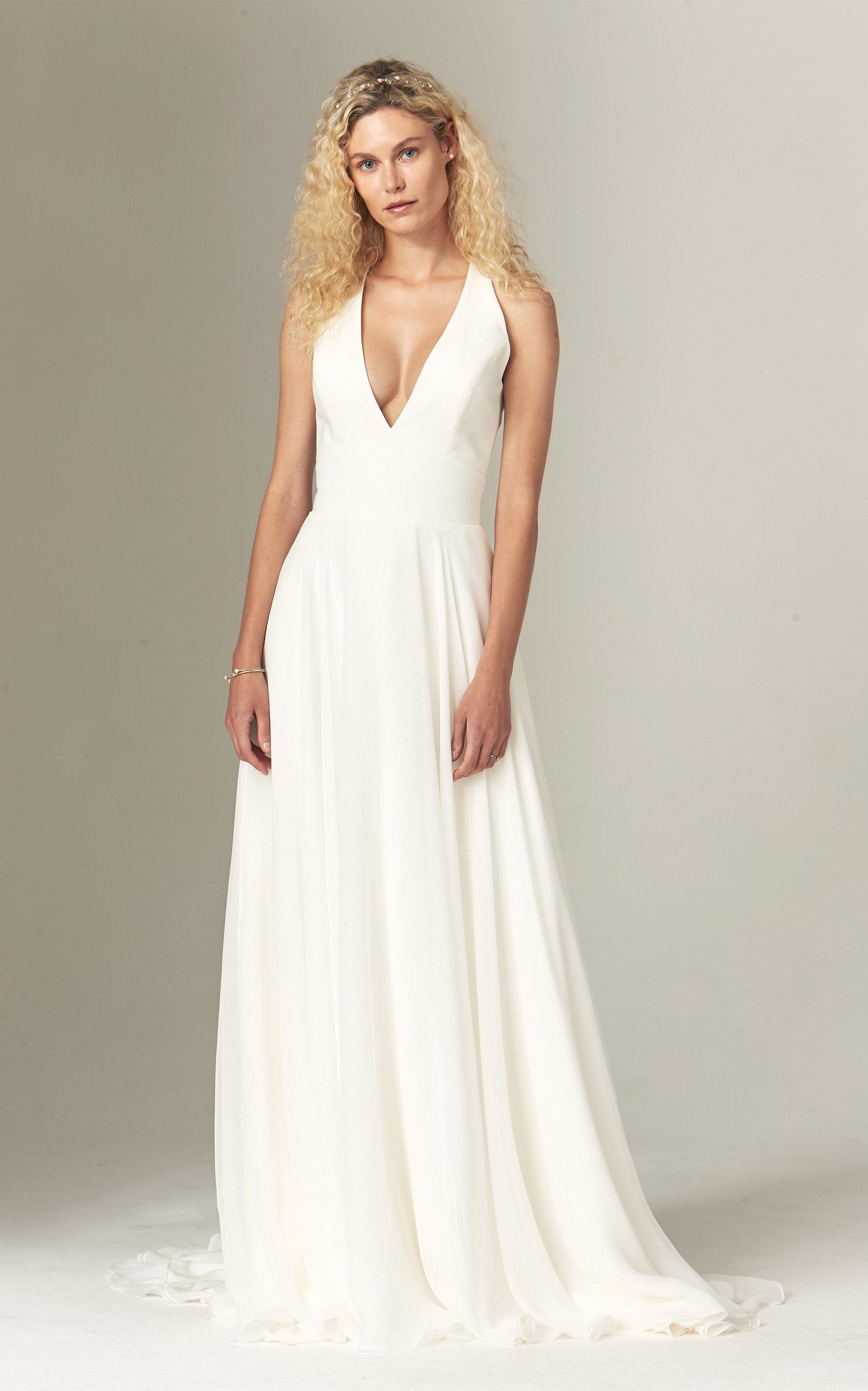 Savannah Miller - Elizabeth Halter Neck Crepe Gown