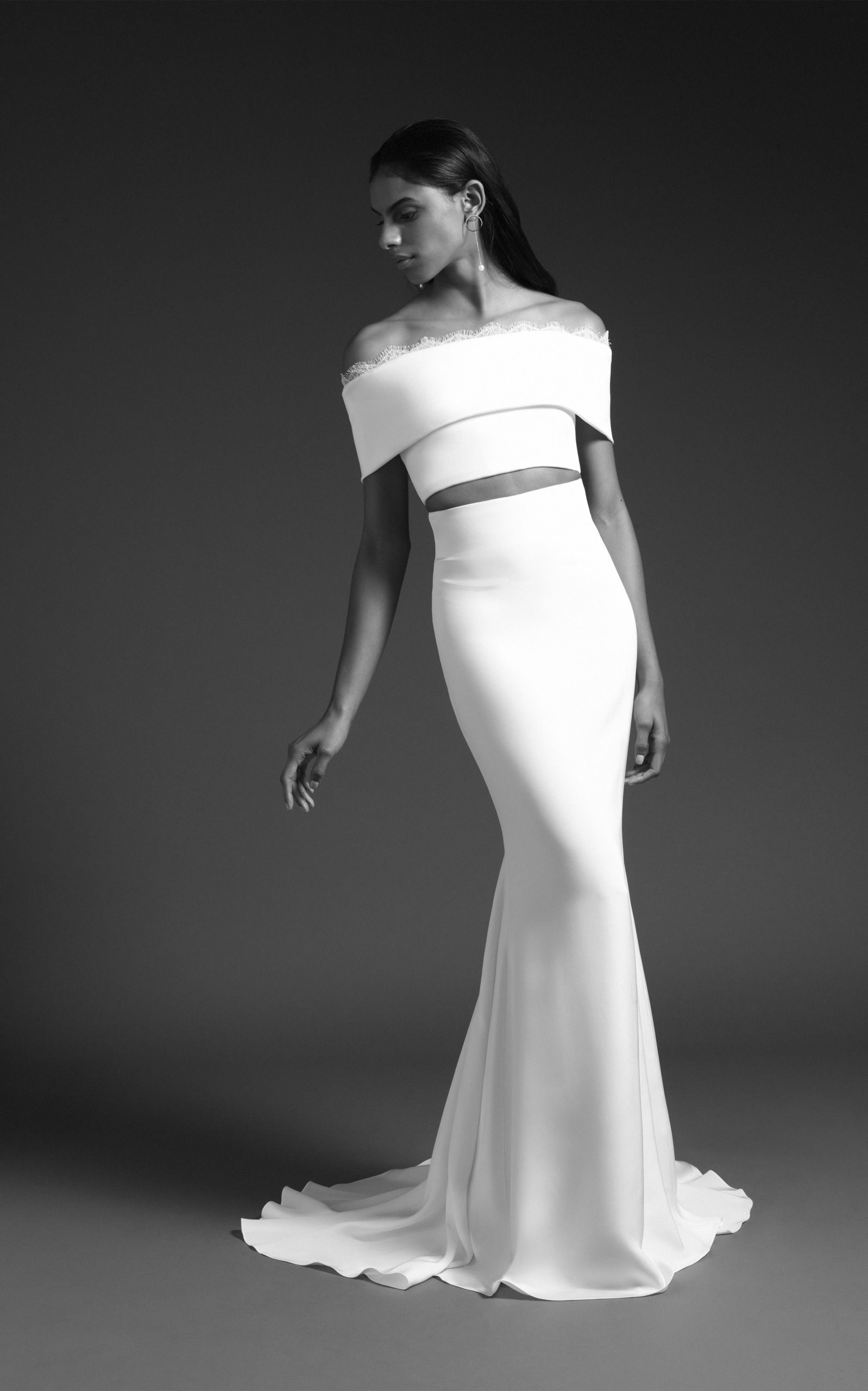 Cushnie Bridal - Luma High Waisted Silk Skirt With Train