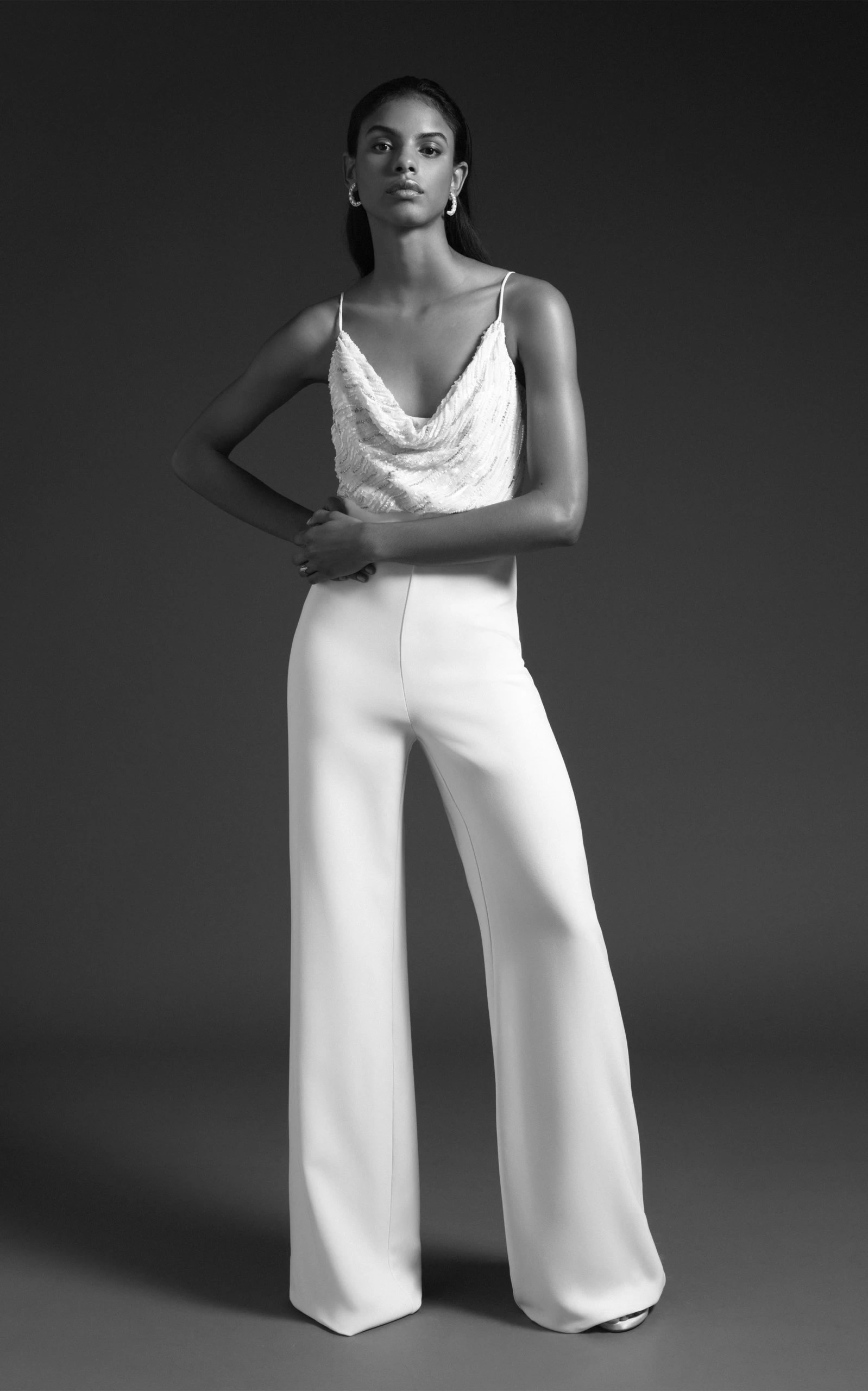 Cushnie Bridal - Riley High Waisted Wide Leg Pant