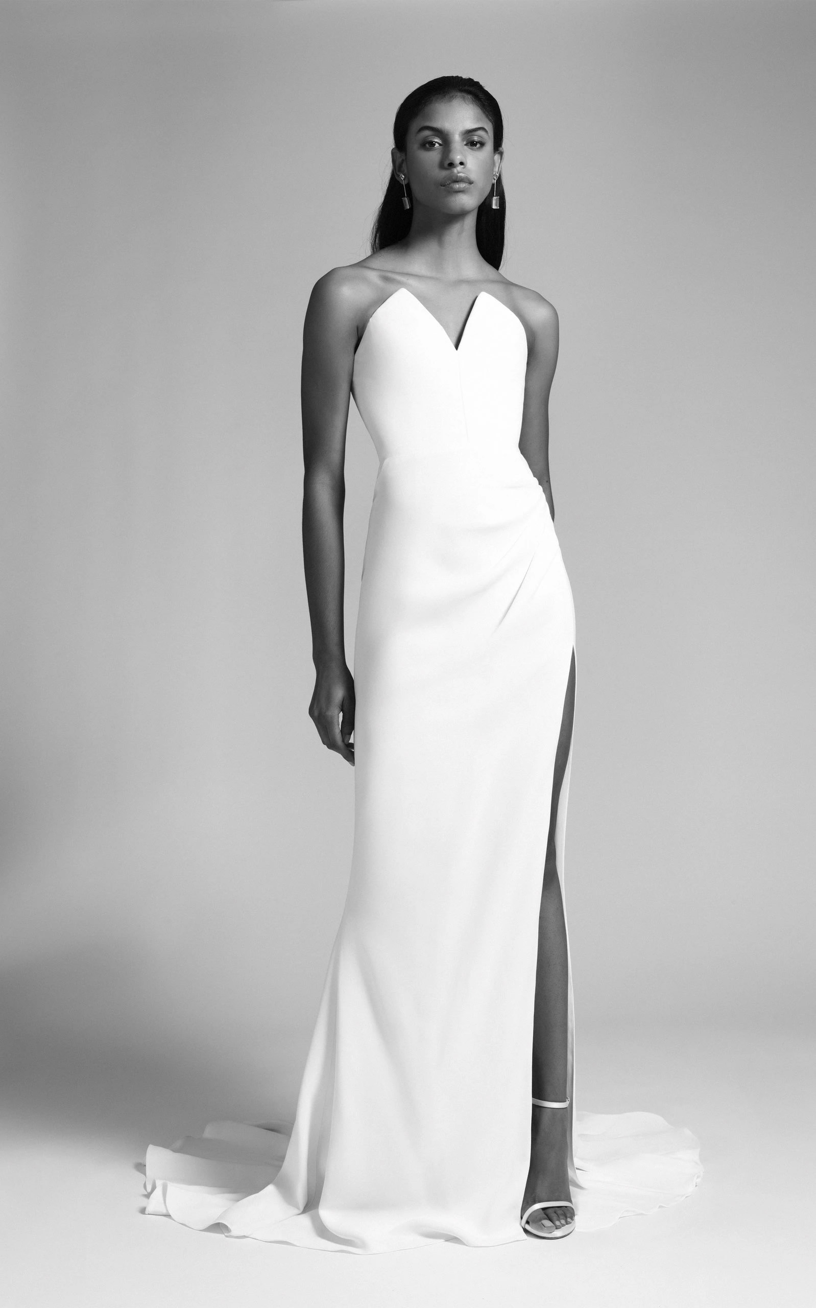 Cushnie Bridal - Sasha Strapless Pointed Bodice Gown