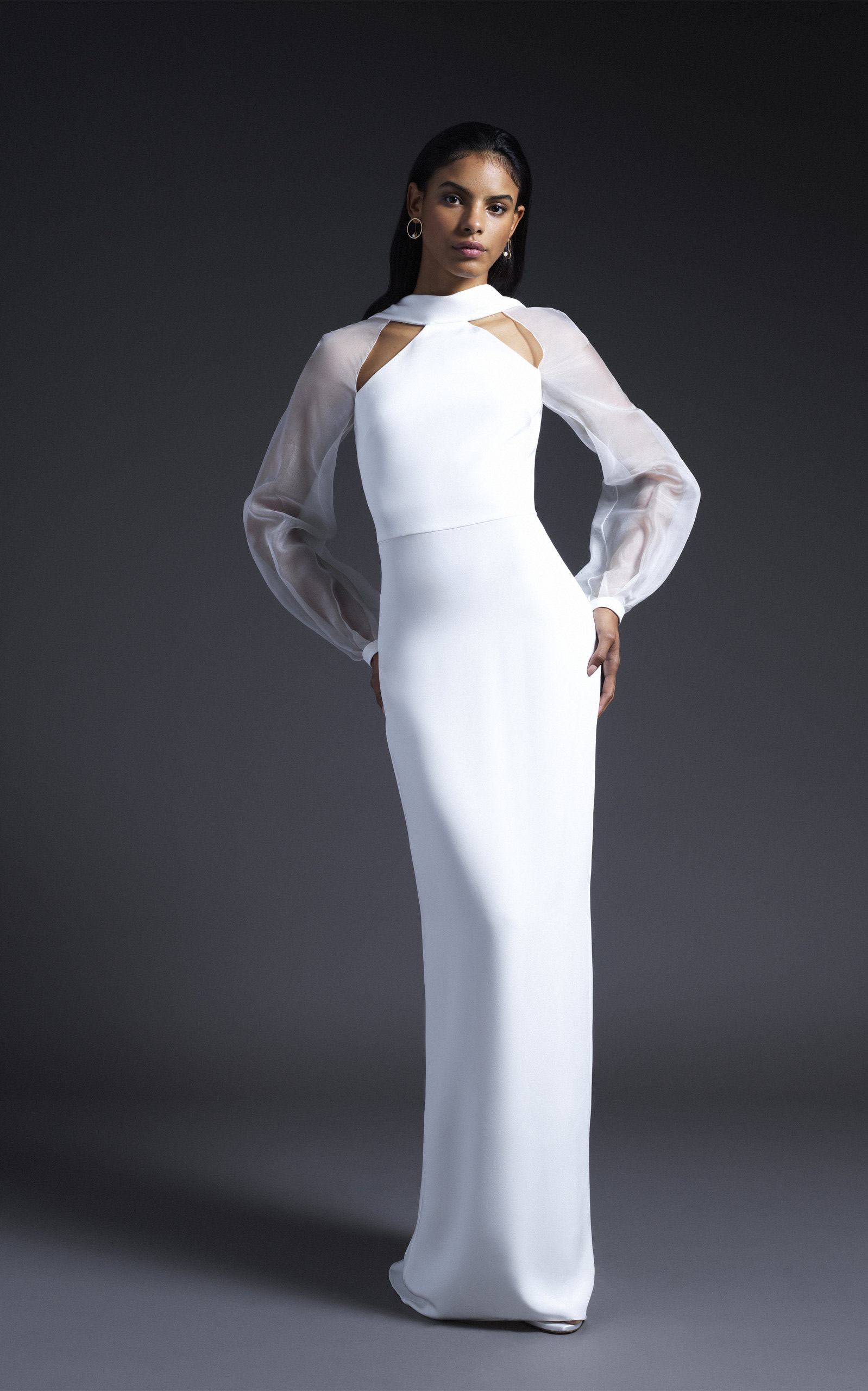 Cushnie Bridal - Sophie Silk Gown With Open Back And Organza Sleeves