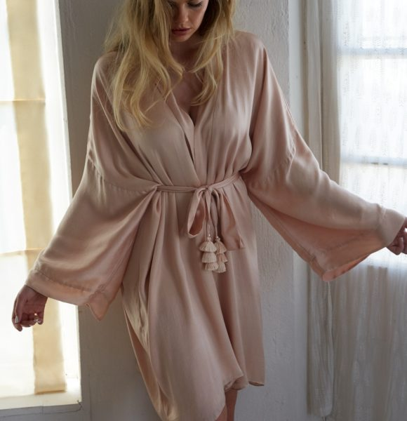 Celine Satin Bridal Robe by Bo & Luca