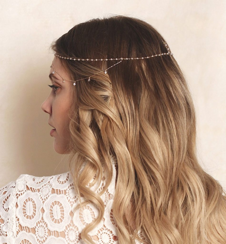 Dakota Pearl And Crystal Dangle Headpiece by Amy O Bridal