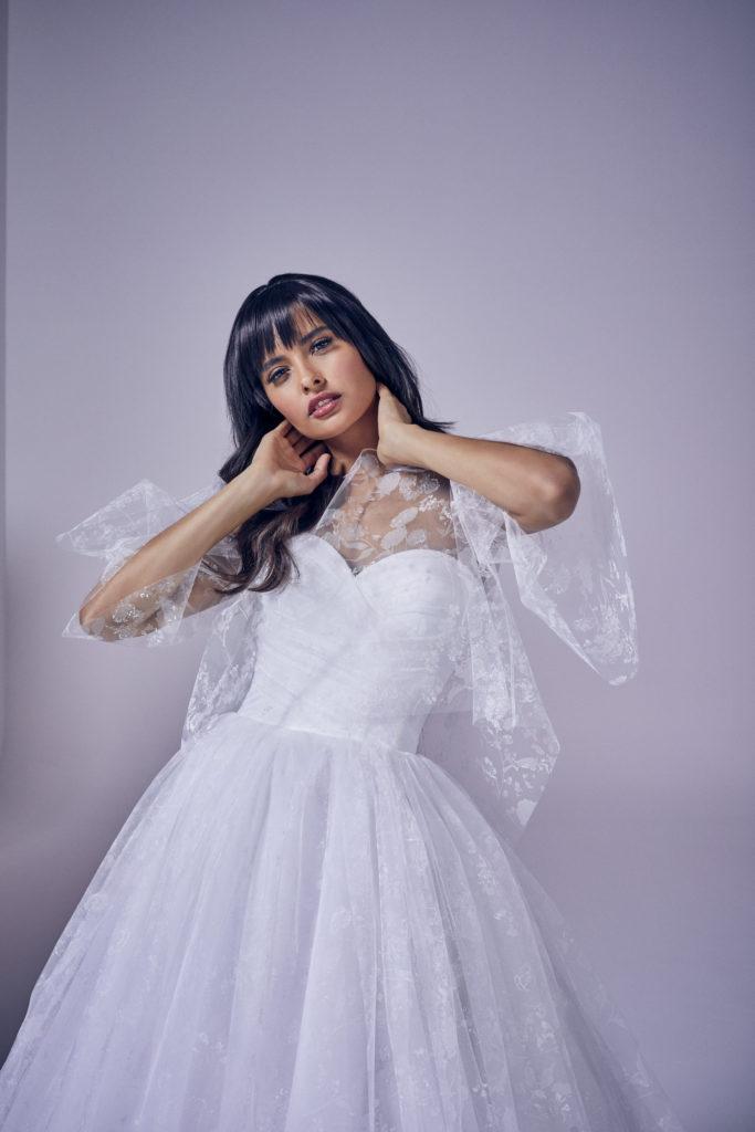 Suzanne Neville - Amora Jacket Crop Wedding Dress - Modern Love Collection 2021