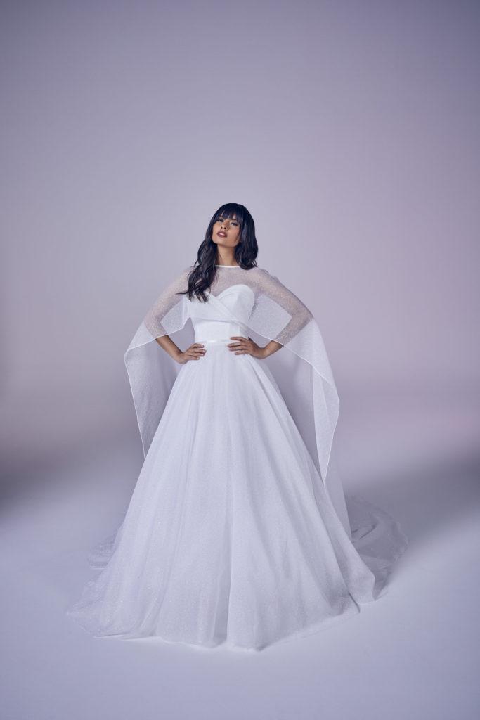 Suzanne Neville - Anastasia Cape Wedding Dress - Modern Love Collection 2021