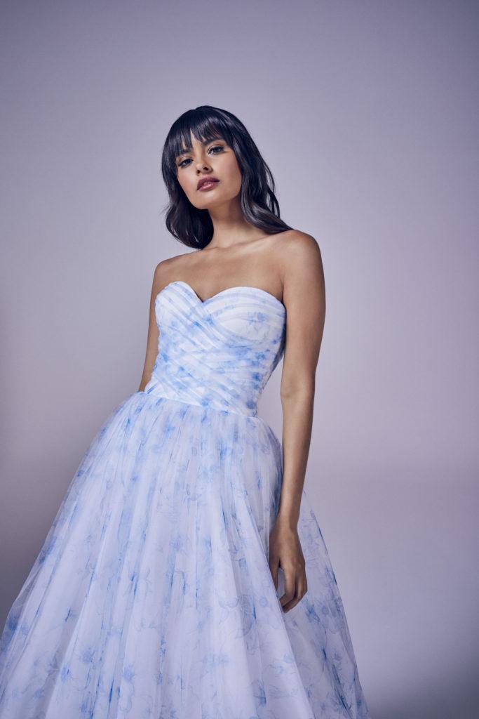 Suzanne Neville - Blue Crop Wedding Dress - Modern Love Collection 2021