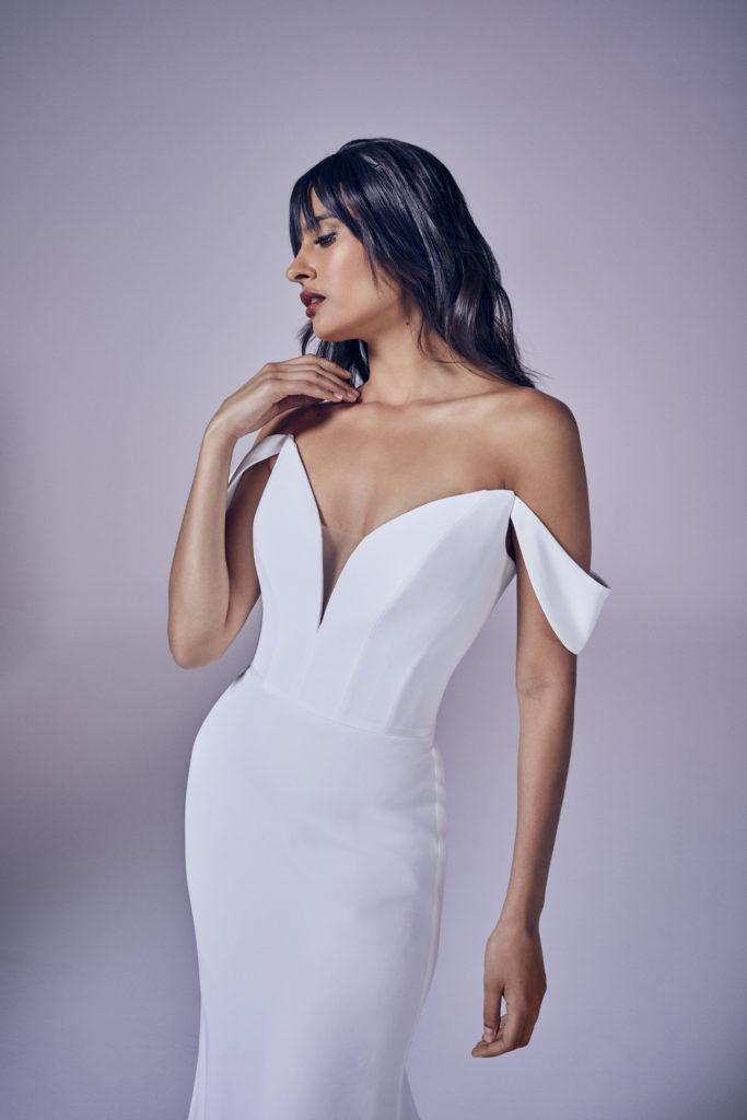 Suzanne Neville - Calla Crop Wedding Dress - Modern Love Collection 2021