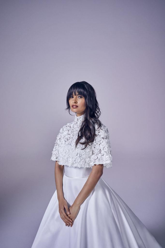 Suzanne Neville - Eternity Crop and Bouquet Jacket Wedding Dress - Modern Love Collection 2021