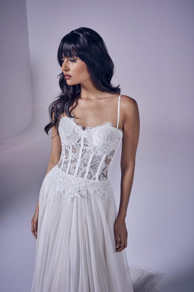 Suzanne Neville - Jacinta Crop Wedding Dress - Modern Love Collection 2021