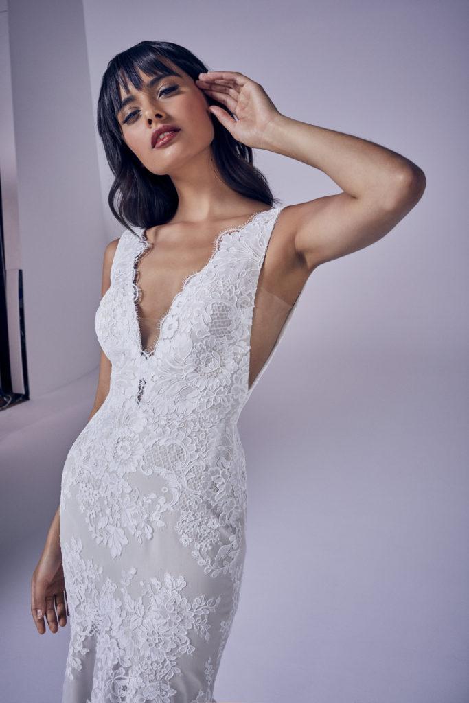 Suzanne Neville - Kassia Crop Wedding Dress - Modern Love Collection 2021