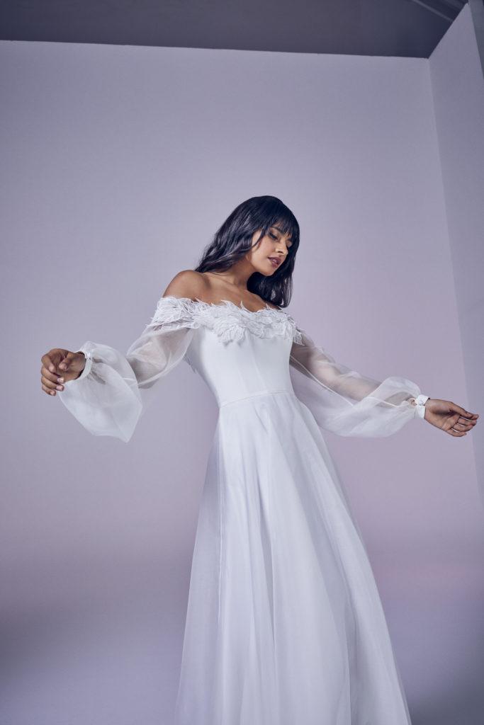 Suzanne Neville - Octavia Crop Wedding Dress - Modern Love Collection 2021