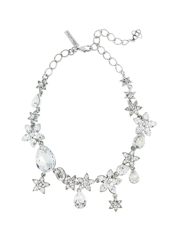 Flower Crystal Necklace by Oscar de la Renta