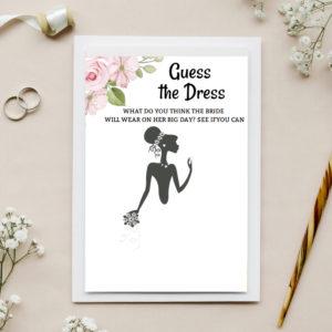 Mondo Bridal - Guess The Dress Bridal Shower Game