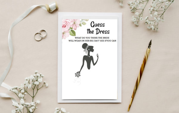 Mondo Bridal - Guess The Dress Bridal Shower Game