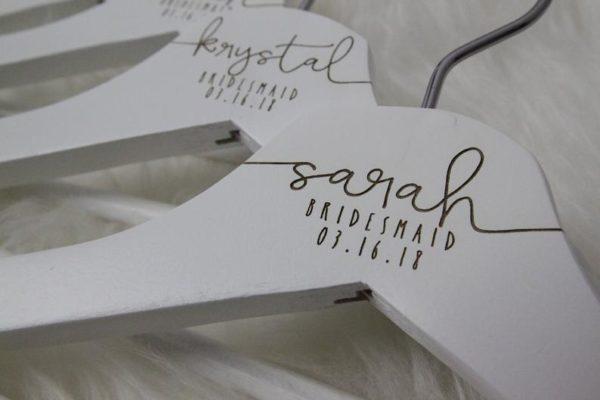 Laser Engraved Bridal Hangers