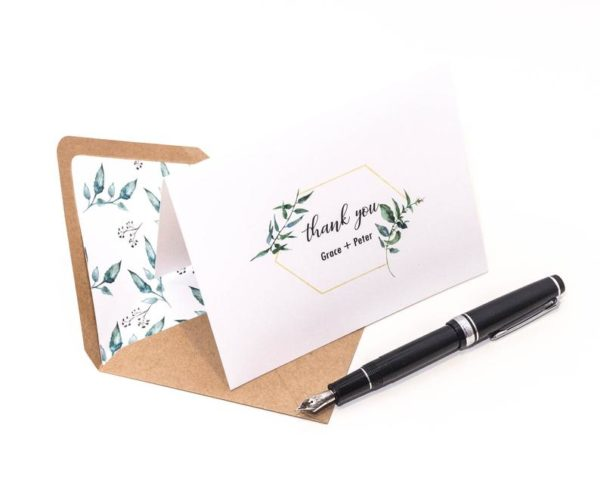 Pack of 10 Greenery Thank You Cards - Style #636478630