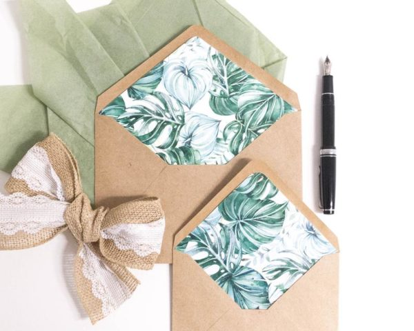 Pack of 10 Tropical Lined Envelopes Style #675797100