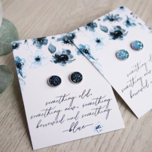 Blue Bride Earring Set