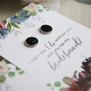 Bridesmaid Proposal Earring Set